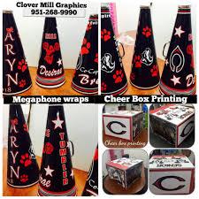 Cheer Box Designs Cheer Box Printing And Megaphone Wraps Cheer Megaphone