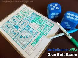 Relentlessly Fun Deceptively Educational Multiplication Area Dice