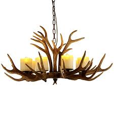 jiayoujia rustic resin antler chandelier 8 lights 39 wide antique lights from jia you