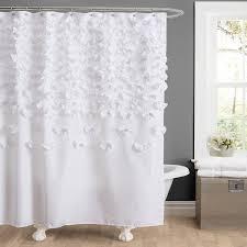 Amazon.com: Lush Decor Lucia Shower Curtain, 72 by 72-Inch, White ...