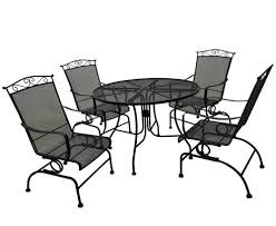 backyard creations wrought iron collection 5 piece dining patio set