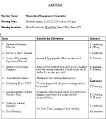 Agenda Outlines Templates Meeting Agenda Sample Format For A Typical Meeting Agenda