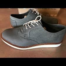 men s toms brogue shoes dark grey leather