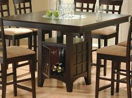 coaster dining room furniture square dark height table