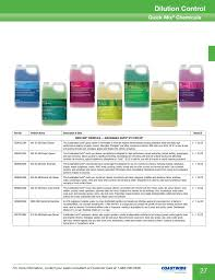 Cleaning Chemical Dilution Chart Chemical Dilution Chart Coastwide Laboratories Pages 1