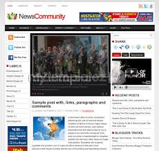 Newspaper Website Template Free Download Free Templates Blogger Templates Magazine News Community