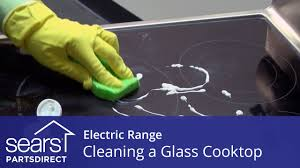 how to clean a glass cooktop on an electric range