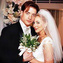 Brendan Fraser and Afton Smith on their wedding