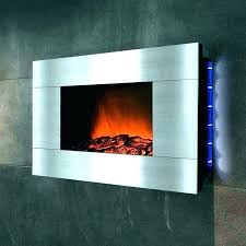 glass ember bed electric fireplace wall black curved model