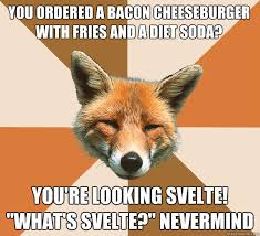 you ordered a bacon cheeseburger with fries and a diet soda? you ... via Relatably.com