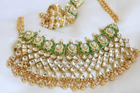 Gold Jadtar Set Design Ethnic Jadtar Kundan Necklace With Delicate Pearl And Gold