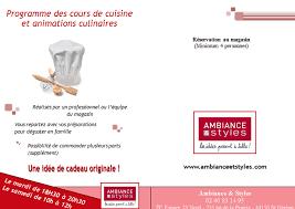 Le Programme Des Cours De Cuisine Et Ambiance Et Styles Ancenis