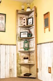 Door Corner Decorations A Old Door Made Into A Rustic Corner Shelf For My Kitchen