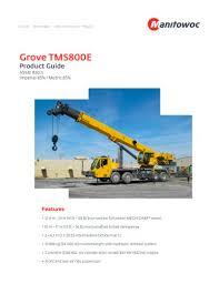 Grove Gmk 6200 Load Chart Tms800e Manitowoc Cranes Pdf Catalogs Technical