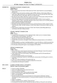 Import Resume Sample Import Coordinator Resume Samples Velvet Jobs 9