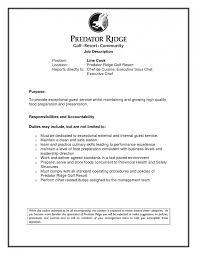 Chef Job Description Resume Bunch Ideas Of Chef Sample Line Cook Resume Prep Objective Samples 27