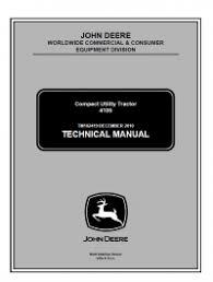 repair manual John Deere 4105 Compact Utility Tractor Technical ...