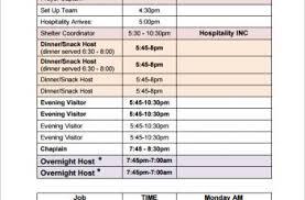 volunteer schedule template professional development plan template template business