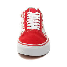 vans shoes red and white. alternate view: vans old skool chex skate shoe - red/white alt4 shoes red and white a