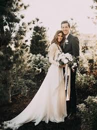 Chic Wedding Dresses Ivory Long Sleeve Floor-length Tulle Bridal Gown –  Anna PromDress