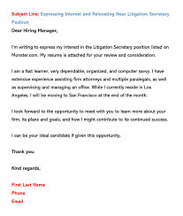 Email Cover Letter Subject Line Sample Email Cover Letters Examples How To Write And Send