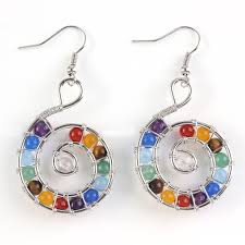 Spiral Beads Design Us 3 45 20 Off Xinshangmie Exclusive Design Silver Plated Multi Color Round Beads Spiral Earrings Fashion Spiral Universe Jewelry In Drop Earrings