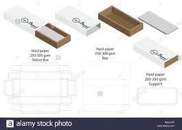 Box Packaging Die Cut Template Design 3d Mock Up Stock