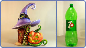 Diy Halloween Fairy House Lamp Using A Plastic Bottle