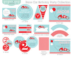 Cars Party Decorations Race Car Birthday Party Decorations Invitation Printable