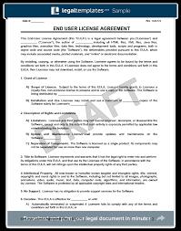 End User License Agreement Form Evaluation License Agreement