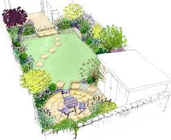 Small Picture Idea for a small back town garden A curving lawn with a circle