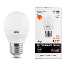 Светодиодная <b>лампа Gauss LED Elementary</b> Globe 8W E27 ...