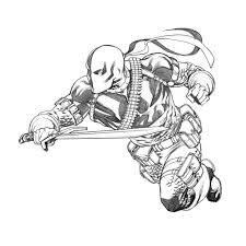 Small Picture Deathstroke Coloring Pages Printable Of For glumme