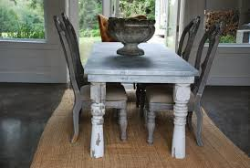 zinc dining room table. Lovely Dining Room Idea With Zinc Table Tops : Awesome Decoration Rectangular O