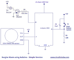 arduino burglar alarm using pir sensor sms alarm burglar alarm or theft alarm or intruder alarm using arduino