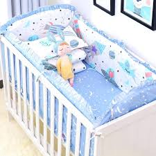baby bed linen set blue universe design crib bedding set cotton toddler baby bed linens include