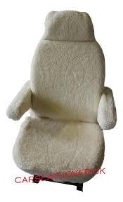 fiat ducato luxury motorhome seat covers faux sheepskin armrest covers