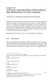 toward the association rules of meteorological data mining based inside