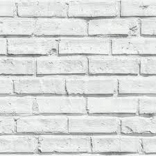 arthouse wallpaper white brick image 1
