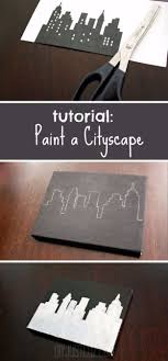 diy canvas painting ideas paint a cityscape cool and easy wall art ideas you can make on a budge 0 0 0 diy canvas painting ideas