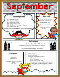 Class Newsletter Free Elementary School Newsletter Templates Free