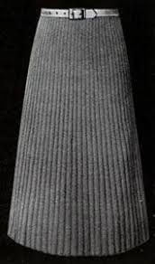 Knit Skirt Pattern Enchanting Narrow Ribbed Skirt Knit Pattern From Hand Knit Fashions Originally
