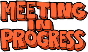 Meeting In Progress Letters Transparent Png Stickpng