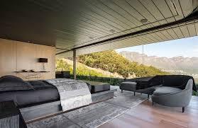 Luxury bedroom-floor-to-ceiling glass wall