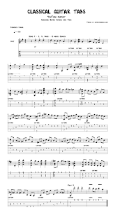 Ultimate Guitar Chord Chart Pdf Classical Guitar Tabs In Pdf And Guitar Pro Formats By