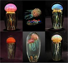 glass jellyfish sculptures