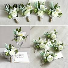 image is loading 2pc white bride wrist corsage groom boutonniere prom