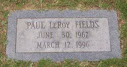 Paul LeRoy Fields (1967-1996) - Find A Grave Memorial