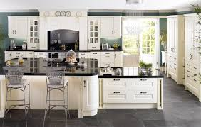 Gray Tile Floor Kitchen Kitchen White Kitchen Table Black Tile Floor Neat Kitchen Island