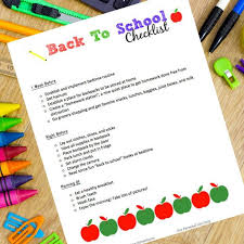 School Checklist Free Printable Back To School Checklist